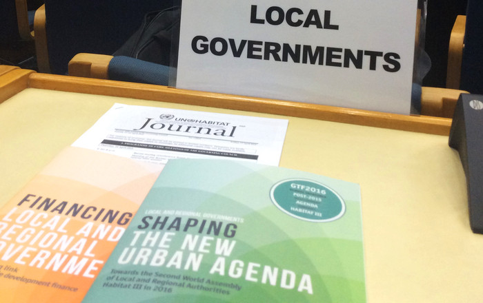 Local and regional governments at PrepCom2 of Habitat III