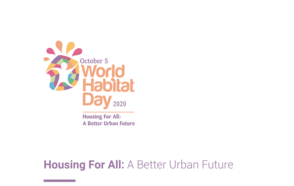 World Habitat Day- Urban October 2020