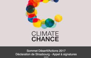 Cumbre DesertifActions 2017 y Declaración de Estrasburgo: Convocatoria de firmas