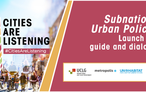 "#CitiesAreListening Experience brings together all spheres of government and the international community to hold a dialogue on subnational urban policy and launch the new publication ""Subnational Urban Policies: A Guide""."