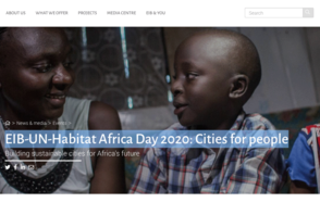 EIB-UN-Habitat Africa Day 2020: Cities for people