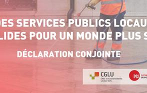 « Des services publics locaux solides pour un monde plus sûr »  Déclaration conjointe de CGLU et ISP dans le contexte de la pandémie de  COVID-19