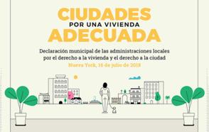 Ciudades por la vivienda adecuada:  una llamada a la acción para garantizar el derecho a la vivienda