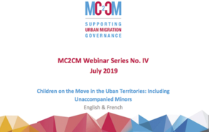 "Webinar ""Children on the Move in Urban Territories: Including Unaccompanied Minors"""