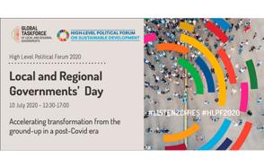 Los gobiernos locales y regionales exigen la creación conjunta de una recuperación sostenible en el Día de los gobiernos locales y regionales en el HLPF 2020