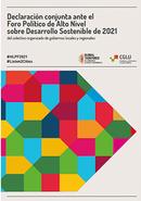 Declaración Conjunta HLPF 2021