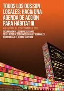 Declaración de los gobiernos locales para la adopción de la Agenda de  desarrollo post-2015