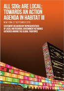 Statement of Local and Regional Governments at the Post-2015 development agenda Summit
