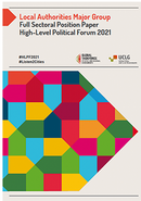 Local Authorities Major Group Full Sectoral - Position Paper High-Level Political Forum 2021