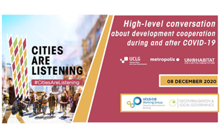 #CitiesAreListening // A High-level dialogue with national governments & the international donor community
