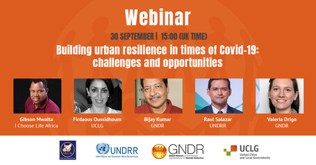 Webinar: Building urban resilience in times of COVID-19: challenges and opportunities
