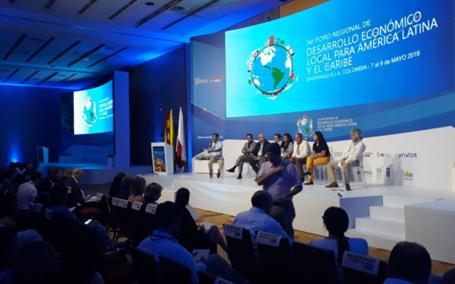 Amplia participación de gobiernos locales en el III Foro regional latinoamericano de desarrollo económico local en Barranquilla