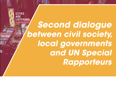Second dialogue between civil society, local governments and UN Special Rapporteurs