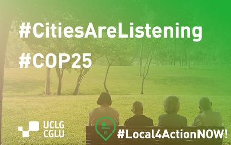Les villes veulent inspirer une nouvelle ère d'action pour le climat lors de la COP 25 à Madrid.