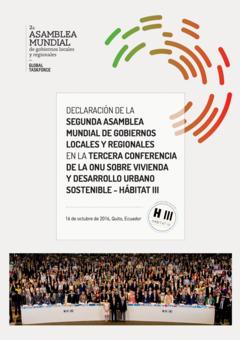 Declaración de la Asamblea Mundial de Gobiernos Locales y regionales en Hábitat III