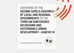 Statement of the Second World Assembly of Local and Regional Governments to Habitat III